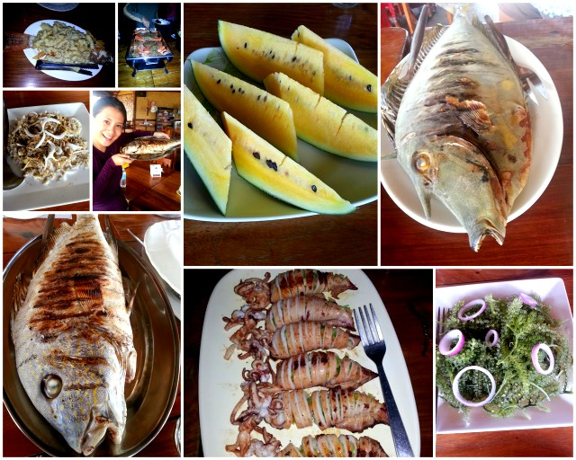 the glorious, wonderful food of Balinsasayaw Resort