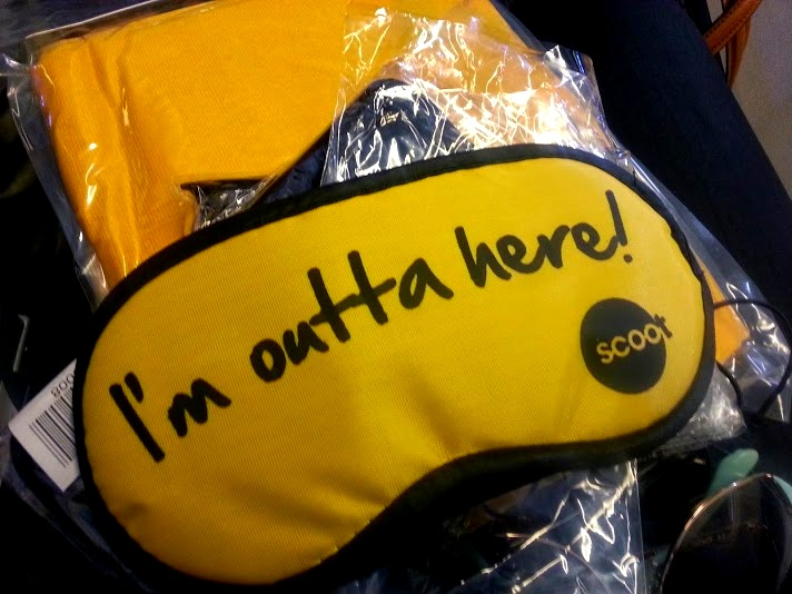 ammenity pack from Scoot Air's Scoot Biz class which you have to pay extra for