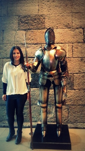 not every girl gets to meet a knight in shining armour. literally.