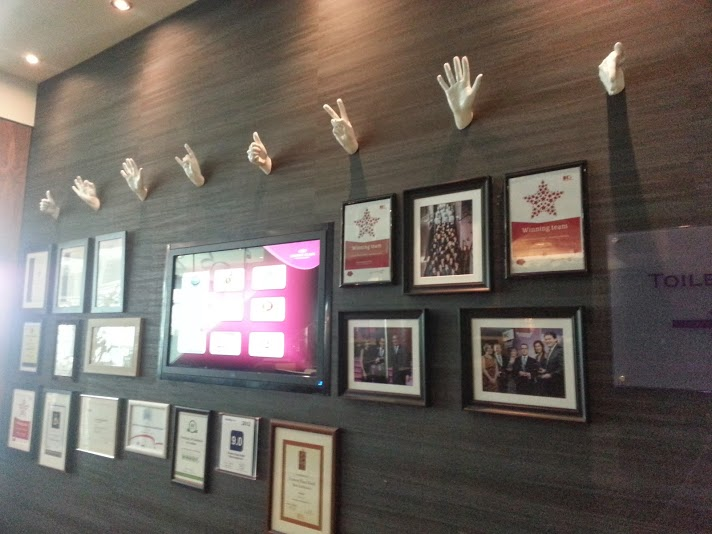 Wall of fame and hands at the Crowne Plaza Blanchardstown