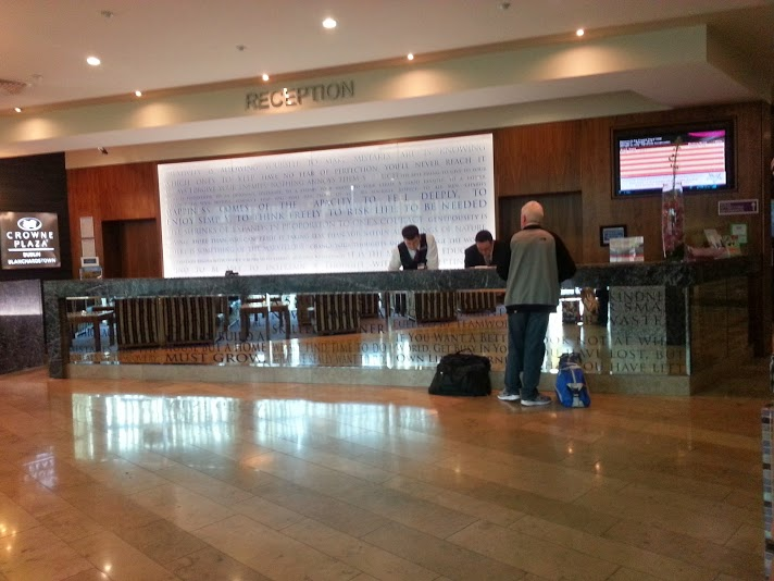 Check in at the Crowne Plaza Blanchardstown
