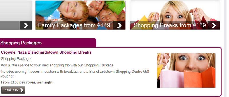 Shopping breaks from EUR 159 at the Crowne Plaza Blanchardstown