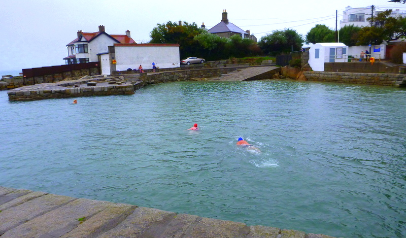 Swimming at Sandycove. First stop at Wild Wicklow Tour