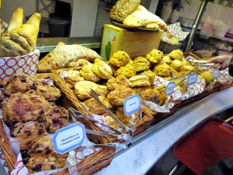 A variety of scones from Avoca's Sugar Tree Cafe, Kilmacanogue