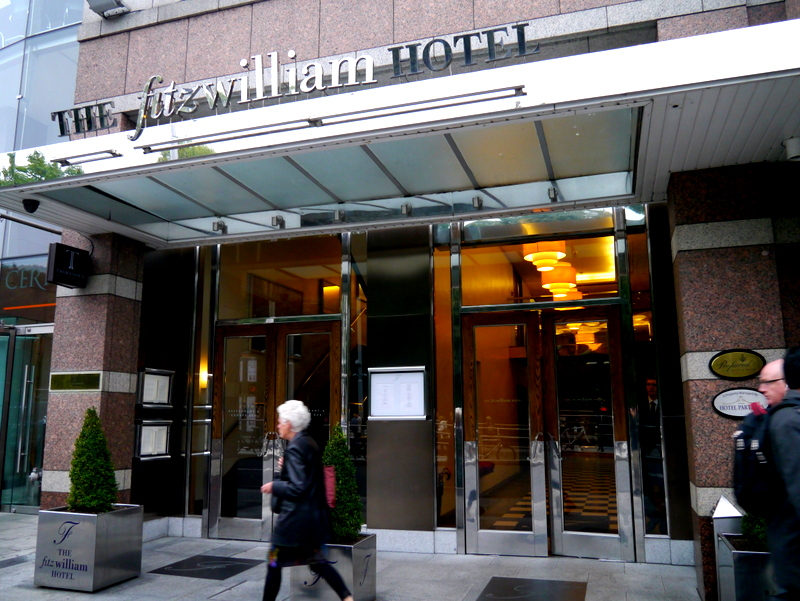 The Fitzwilliam Hotel in Dublin: Location is key.
