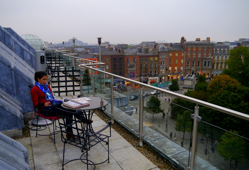 Rooftop Balcony at the Fitzwilliam Dublin Hote