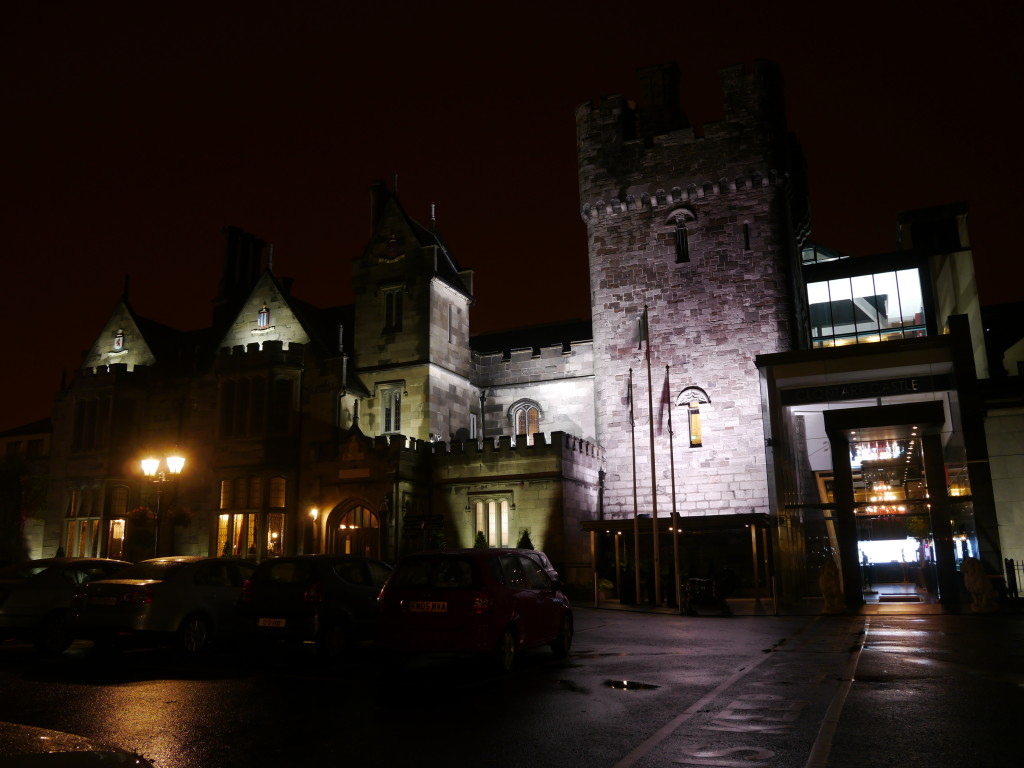 Clontarf Castle Hotel at night