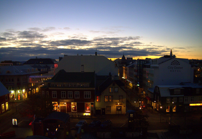 early morning view from our room at Center Hotel Plaza Reykjavk