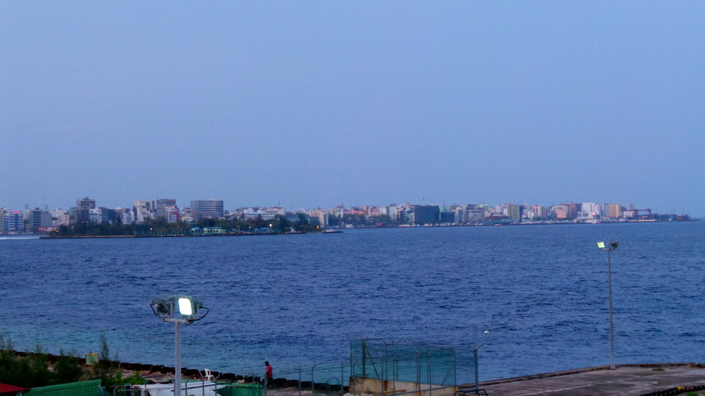 View of Male City from our room