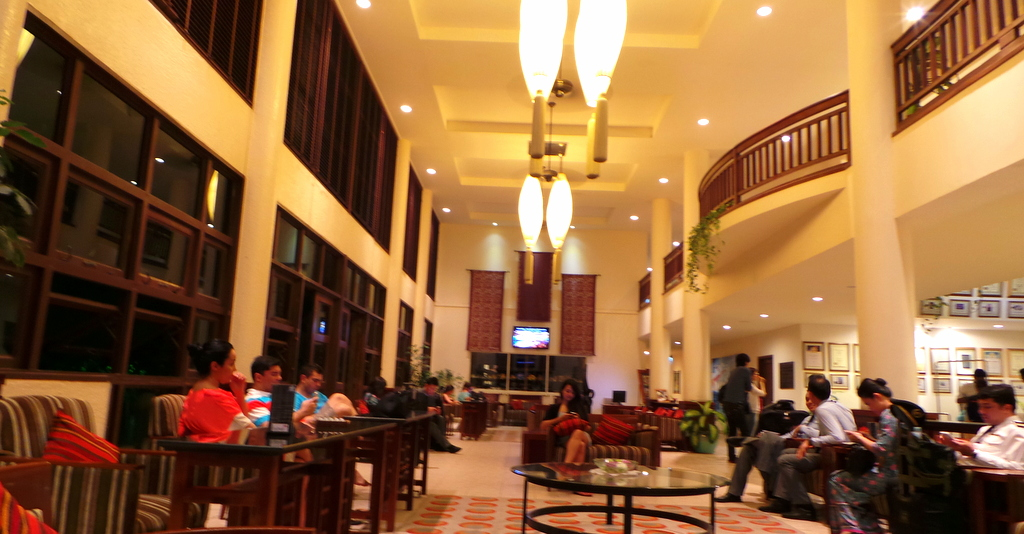 Reception and Lobby of Hulhule Island Hotel