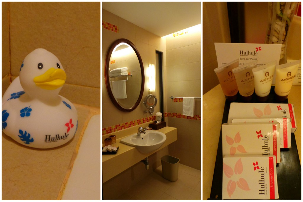 bathroom details and amenity at Hulhule Island Hotel