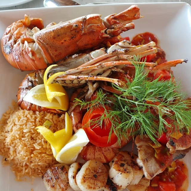 Seafood Platter at Maafushivaru Maldives