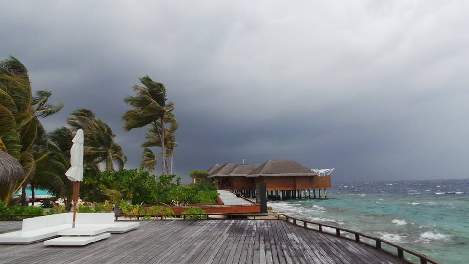 this storm brews a beautiful scenery in Maafushivaru
