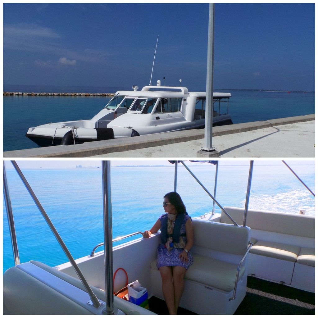 Speedboat transfer at Shangrila's VIllingili Resort & Spa