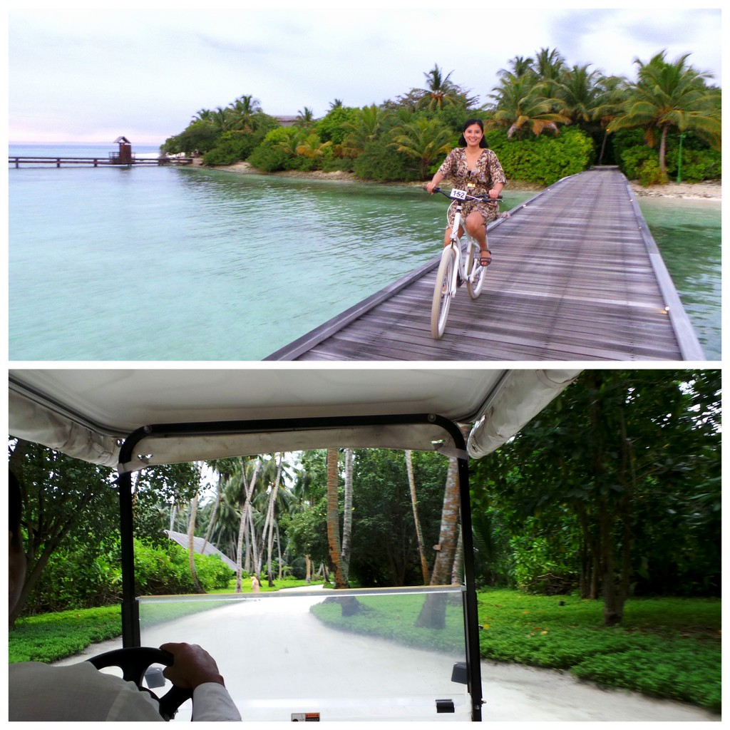 You can Buggy it or Bicycle it in Shangri-la's Villingili Resort Maldives