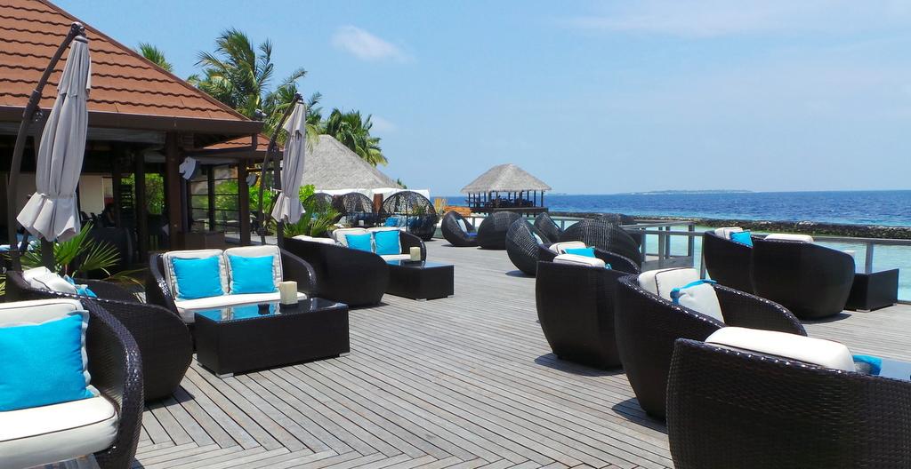 Beach bar during the day. Kurumba Maldives