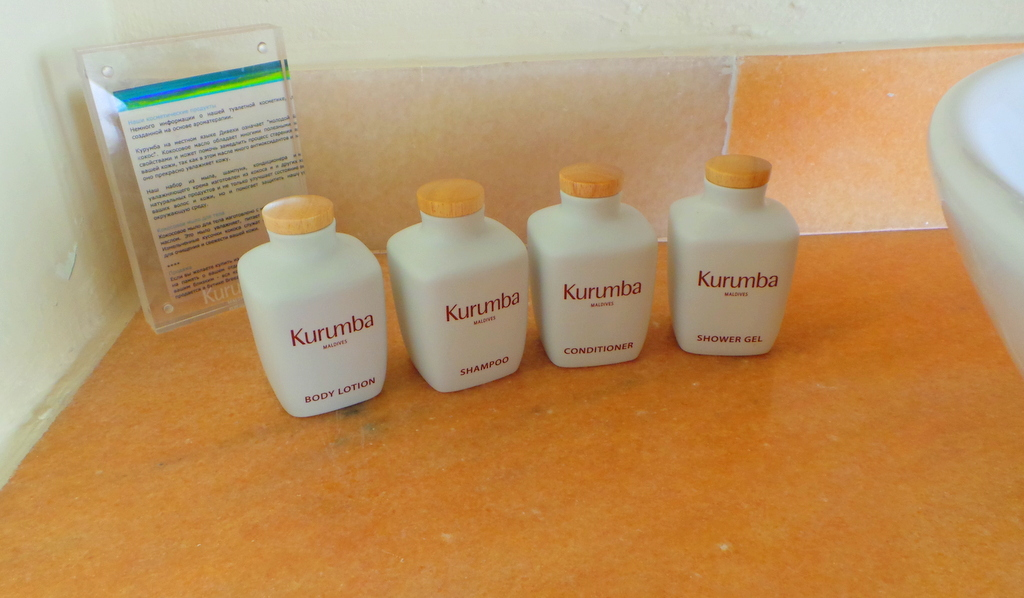 Molton Brown toiletries. Kurumba Maldives