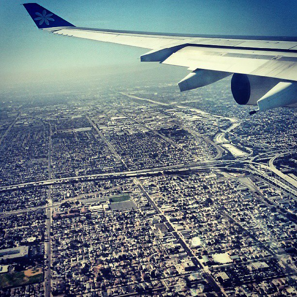 Landing into Los Angeles