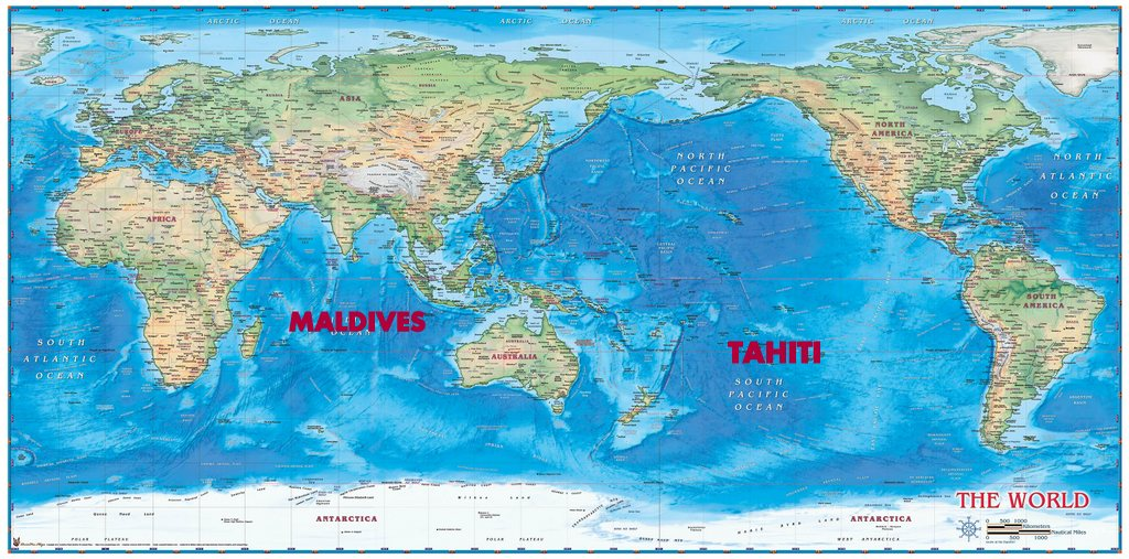 How to get to Tahiti and the Maldives Wherever You\'re From