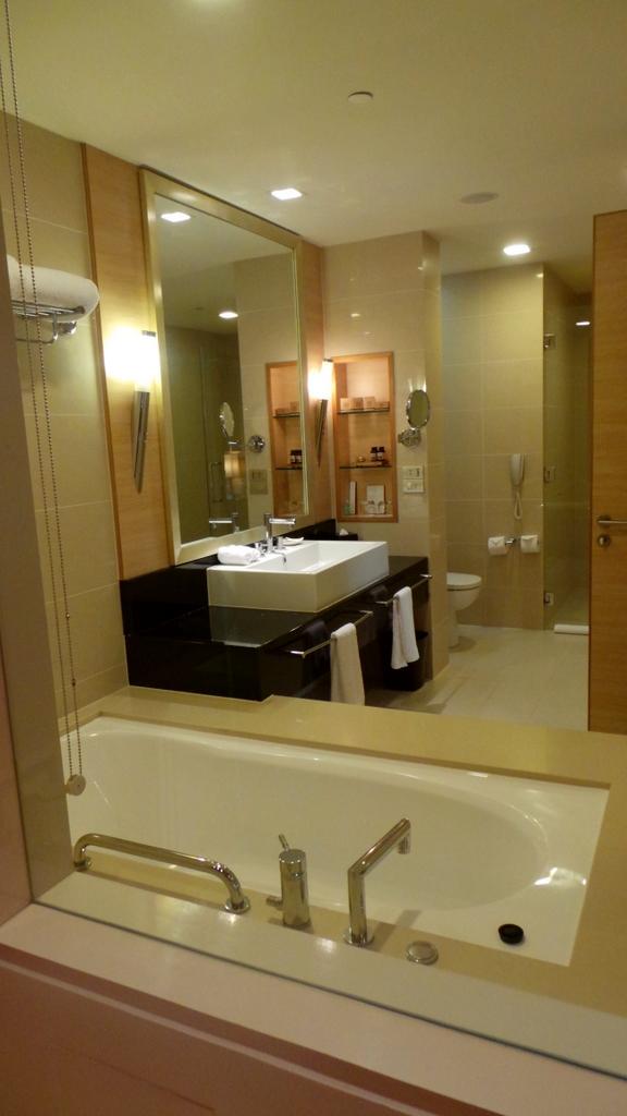 bathroom at Pacific Club King room, Pan Pacific Perth