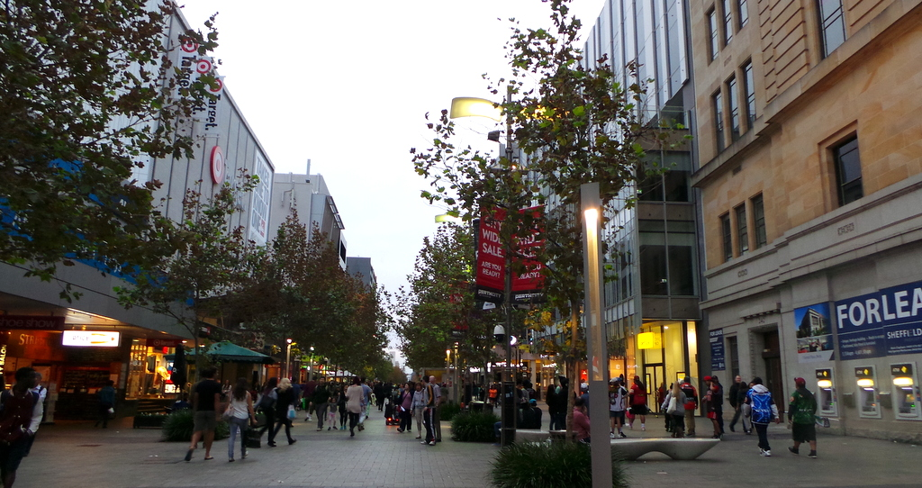 Perth CBD and shops