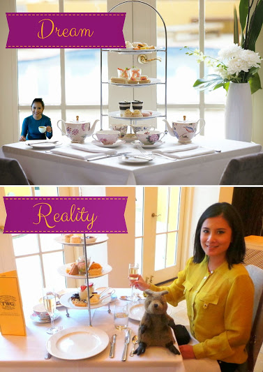 Afternoon high tea: Dream vs Reality