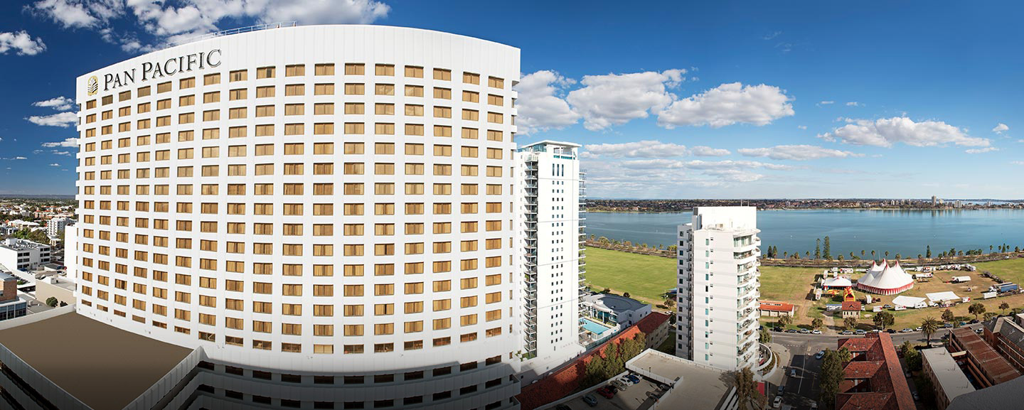 Pan Pacific Perth: views of the Swan River and Kings Park