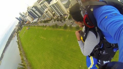 Skydiving drop - just next to Pan Pacific Perth