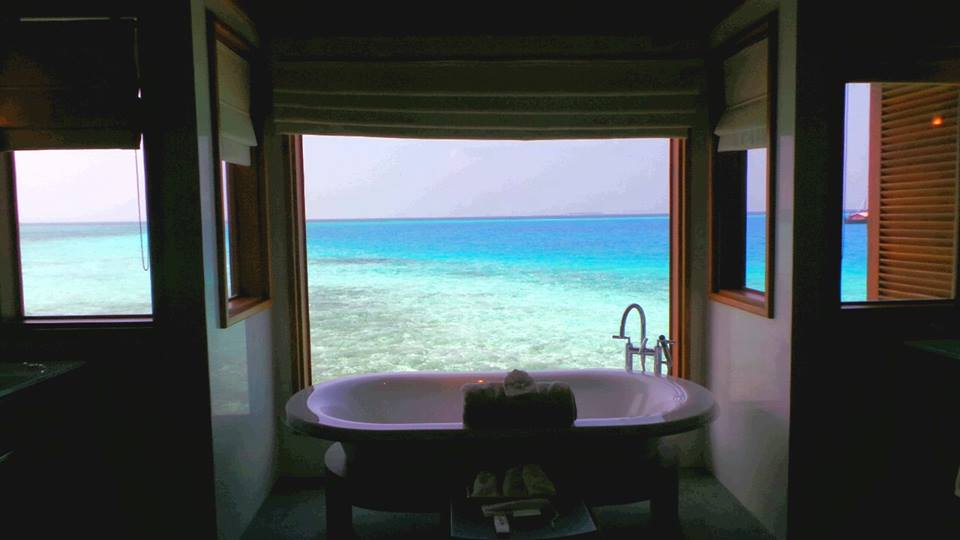 Overwater Bathroom- Huvafen Fushi, Maldives