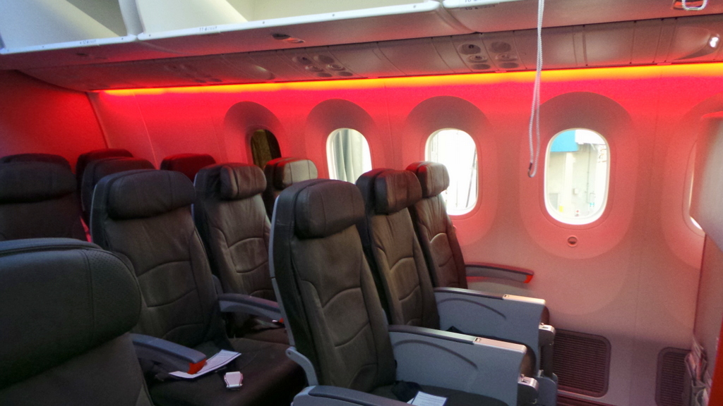 Economy seats on the 787 Dreamliner. Jetstar Sydney - Bali