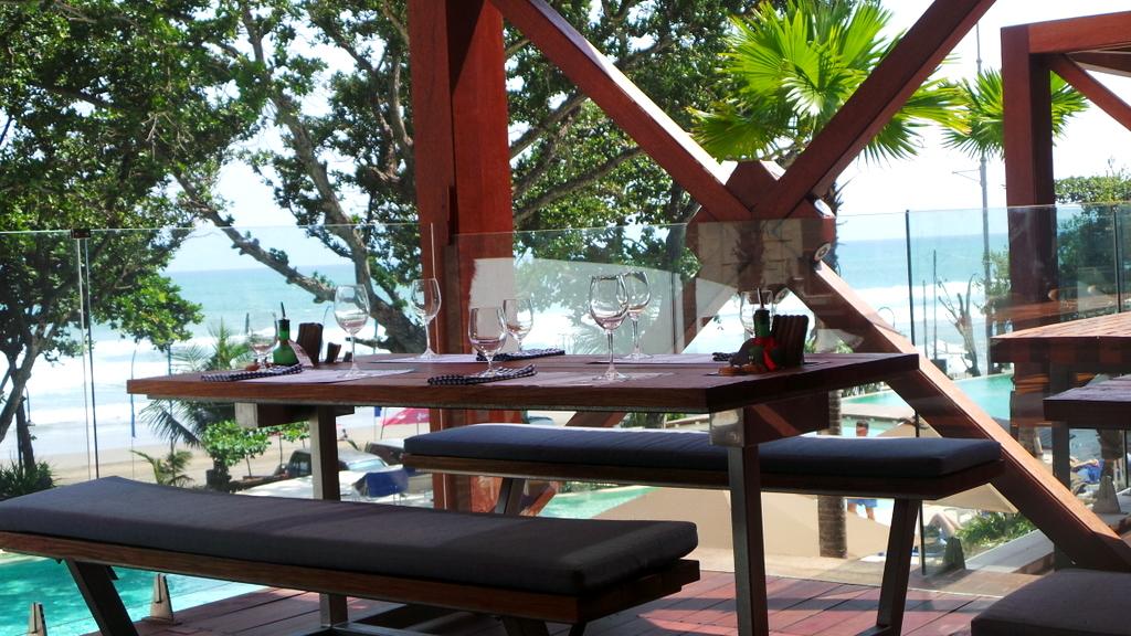 Table at Seminyak Italian Food, Double Six Hotel