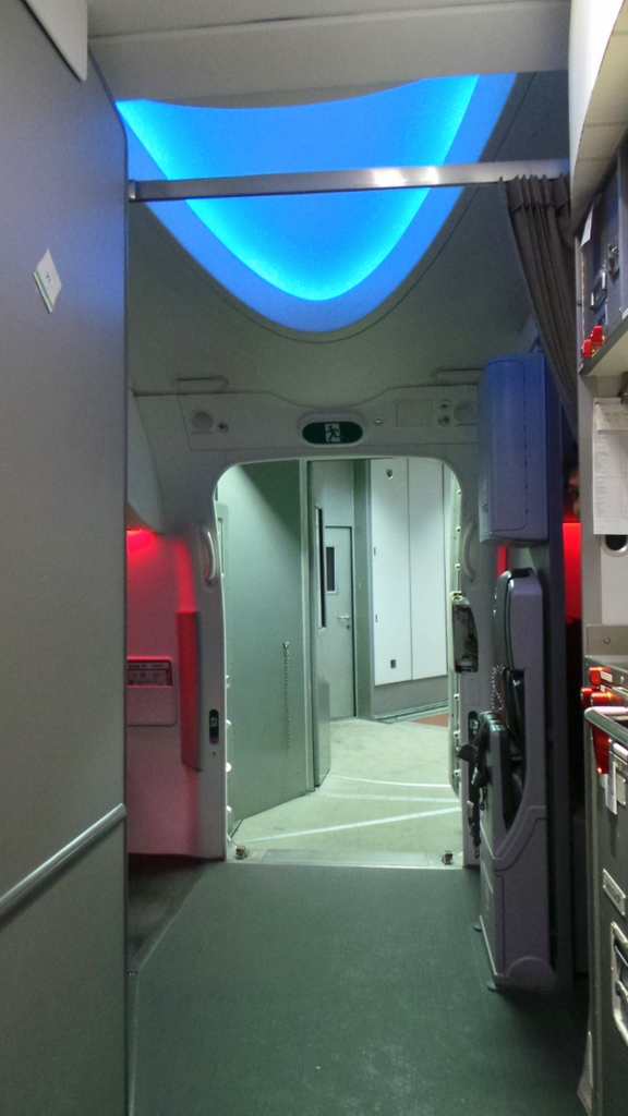 The tall ceilings of the Dreamliner 787