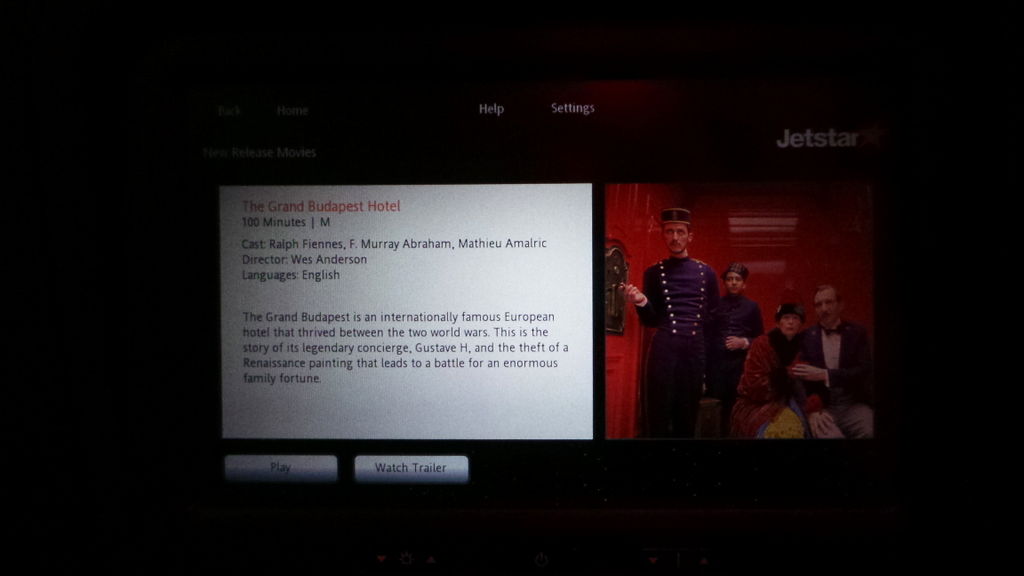 Jetstar's Business Class In-Flight Entertainment on the Dreamliner
