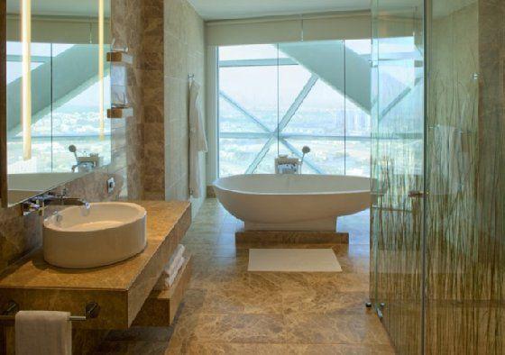 Hyatt Capital Gate Bathroom Abu Dhabi