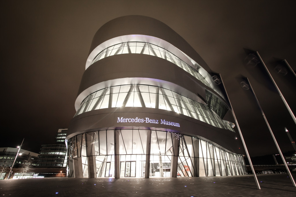 the mercedes benz museum in stuttgart