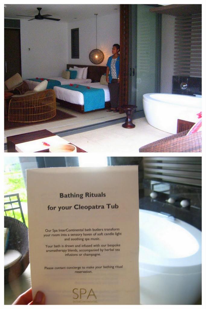 Outdoor Bath Tub at the Intercontinental Fiji Golf Resort & Spa