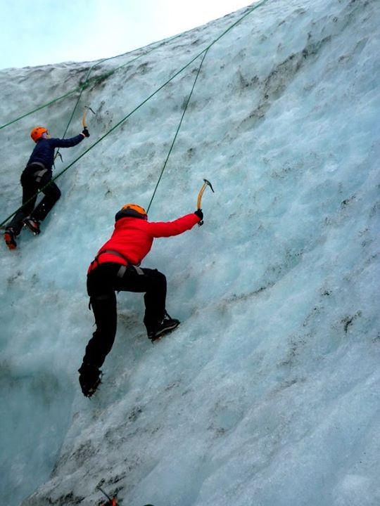 Ice Climbing in Glacier