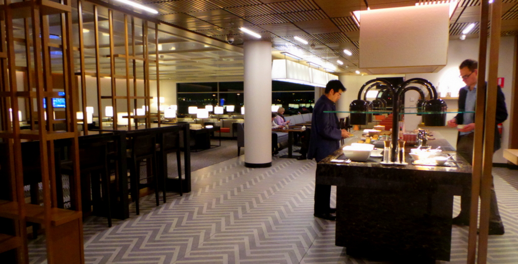 Buffet dining at SilverKris Lounge, Sydney
