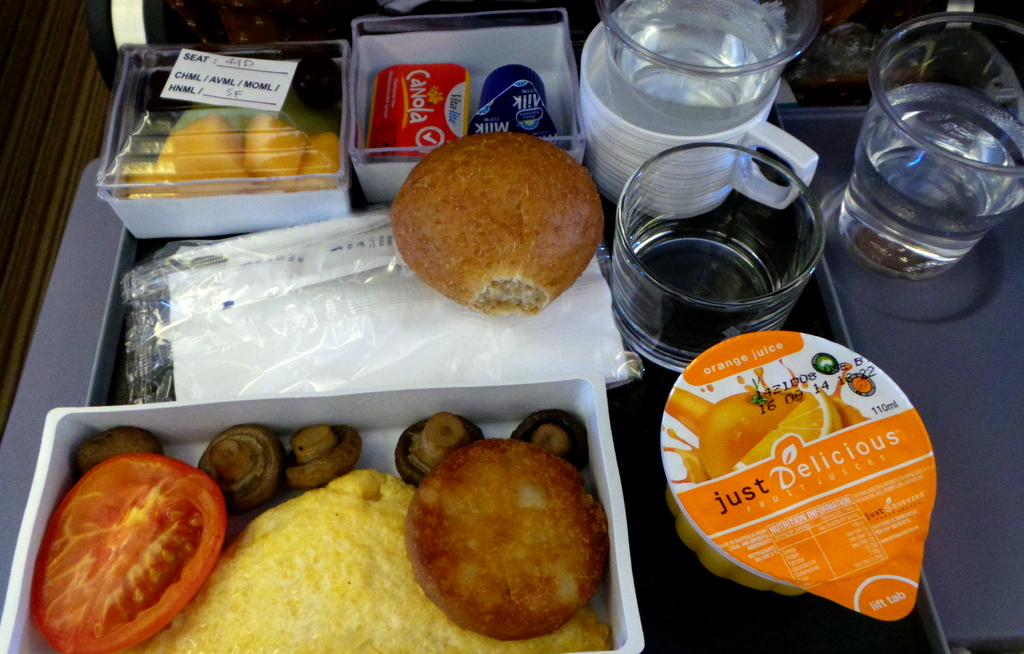 Seafood Meal- Singapore Airlines Sydney to Singapore. Breakfast