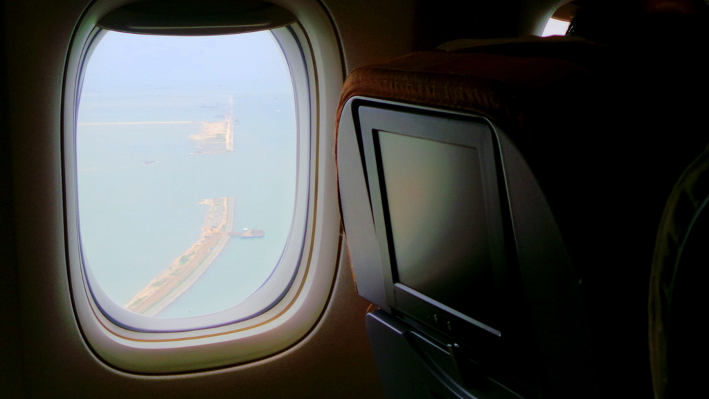 first sight of Singapore. SQ 212 Sydney to Singapore