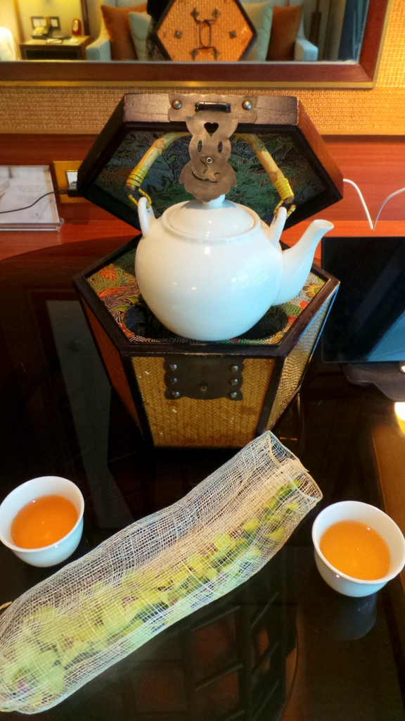 Welcome Tea in your room. Shangri-la Singapore
