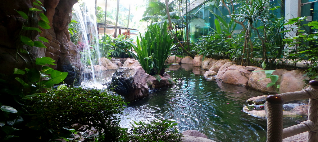 all lush and green at the Garden Wing of Shangri-la Singapore