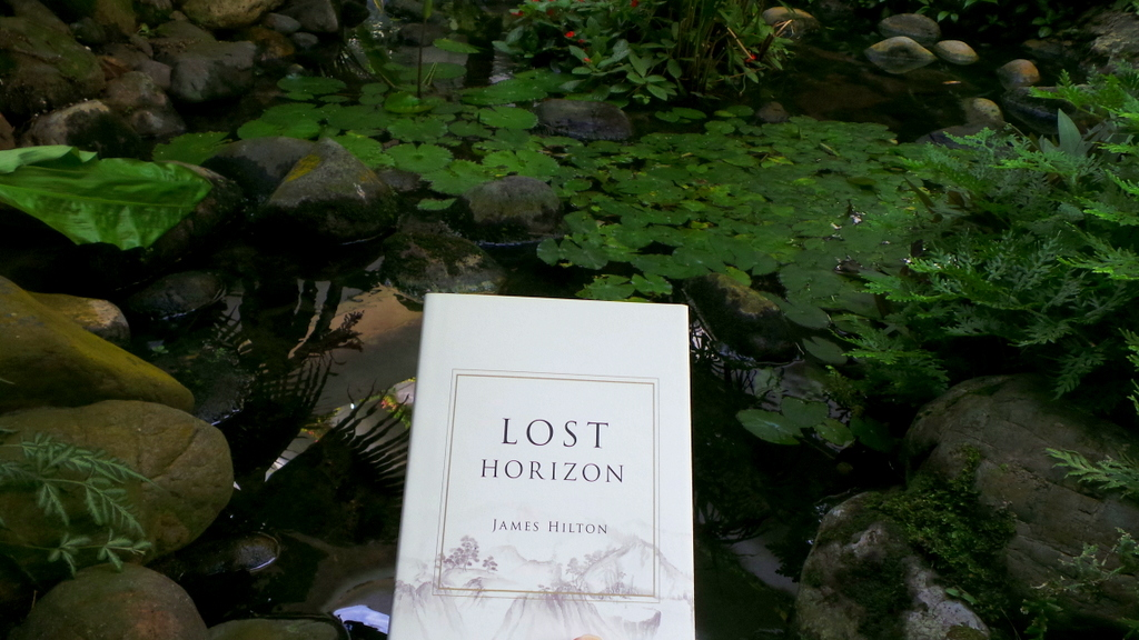 Lost Horizon by James Hilton. The insipiration behind Shangri-la Hotels