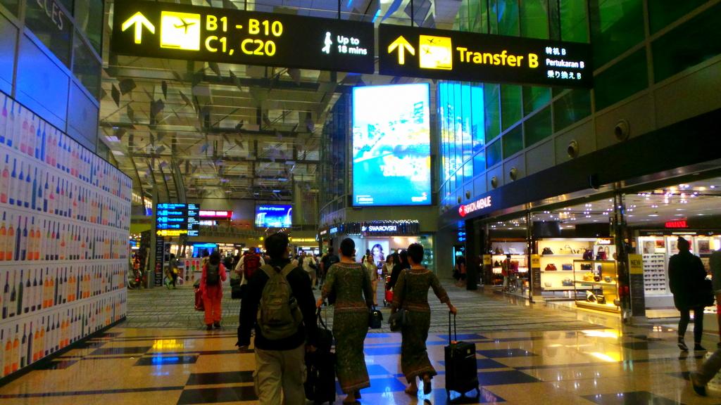 Shopping at Changi Airport - thanks to the Changi Transit Program