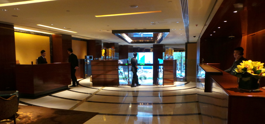 lobby of the Landmark Mandarin Oriental, HK