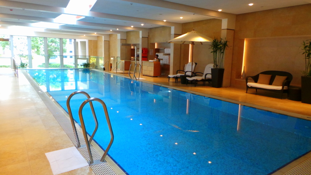indoor pool at The Landmark Mandarin Oriental