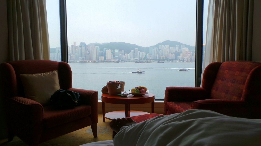 the views of Kowloon Shangri-la. Be sure to book the Harbour view room