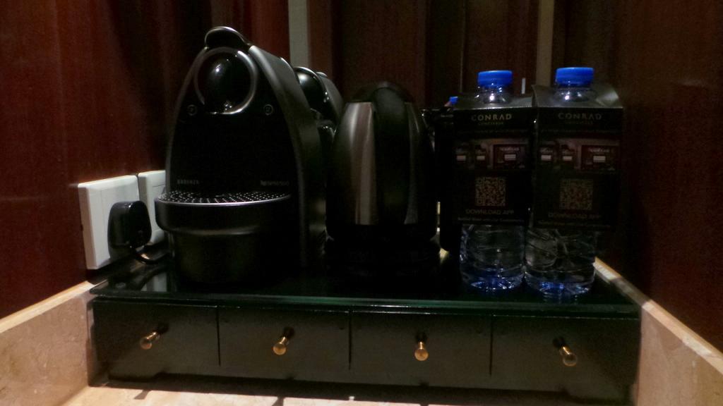 Coffee making facilities and water - Conrad Hong Kong