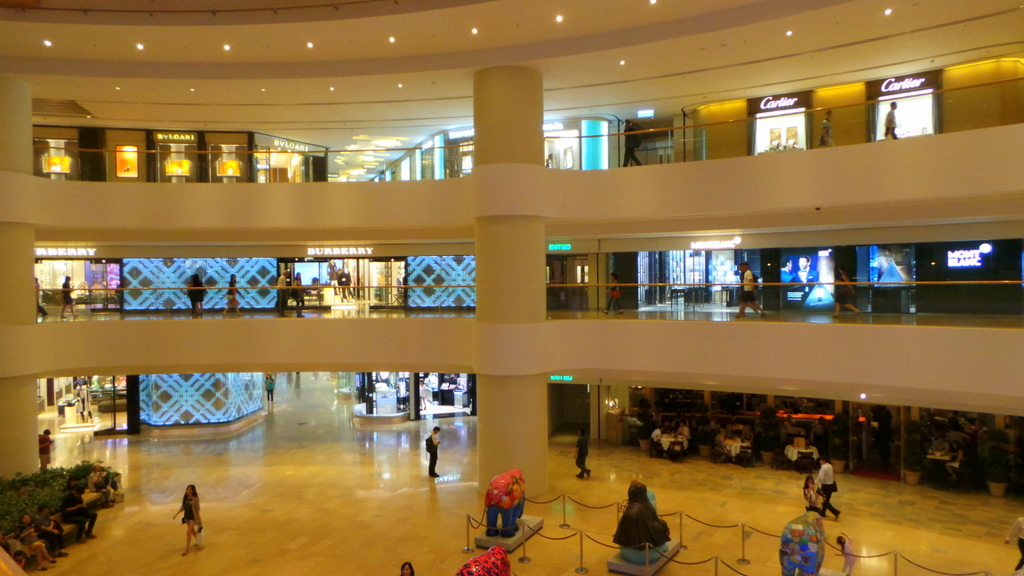 Conrad Hotel's location: The Pacific Place is right below
