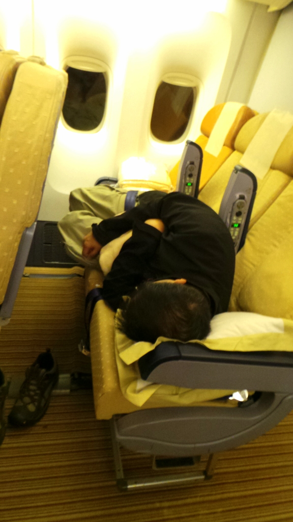 My poor Zombie . But thank you , Singapore Airlines for taking care of him/us!